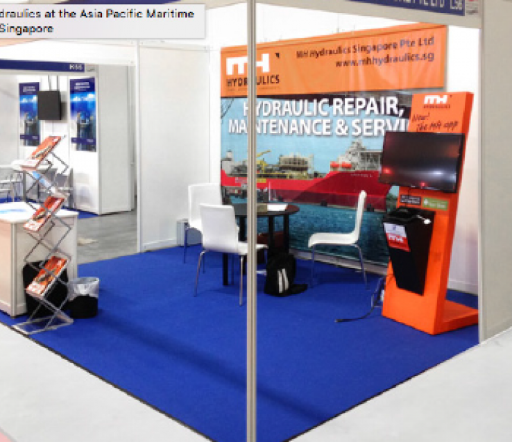 MH Hydraulics at the Asia Pacific Maritime 2014, Singapore
